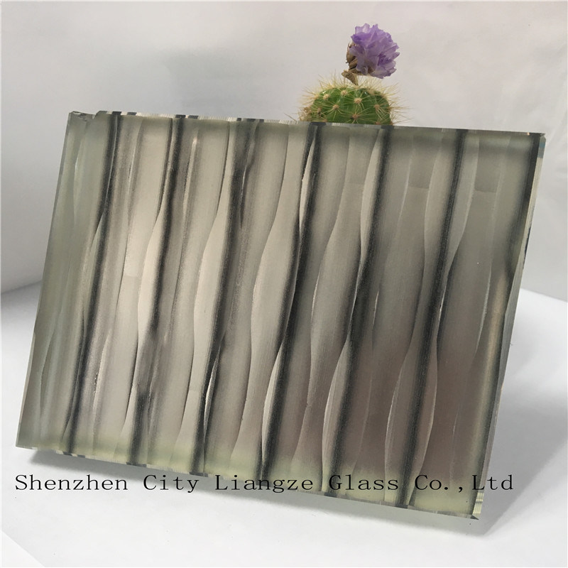 5mm+Silk+5mm Laminated Glass/Sandwich Glass/Art Glass/Tempered Glass/Safety Glass for Decoration