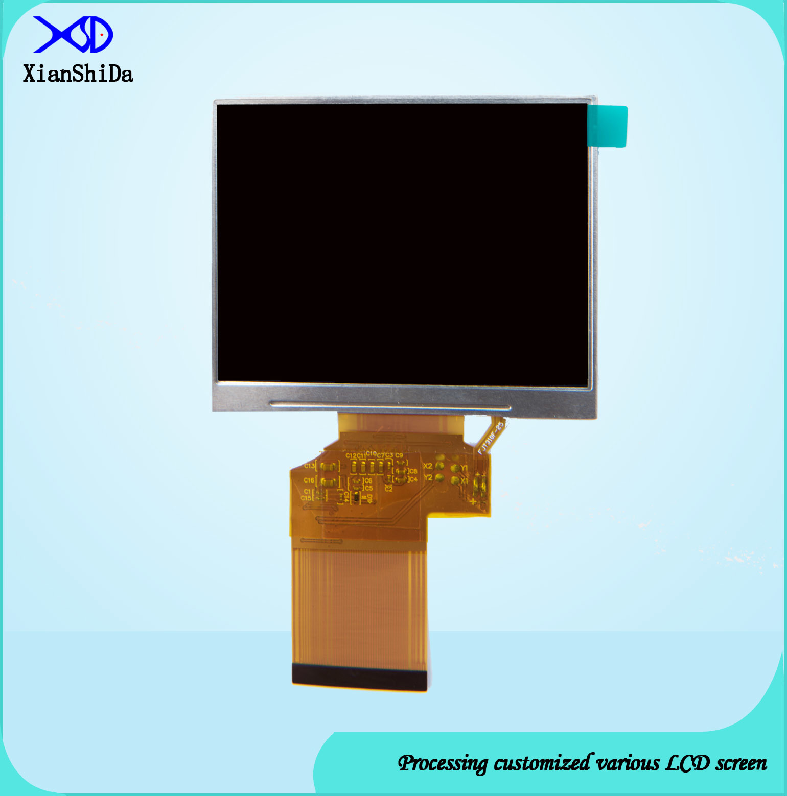 3.5 Inch LCD Screen 780CD/M2 High Luminance TFT LCD Display Module with 24 Bit RGB Interface