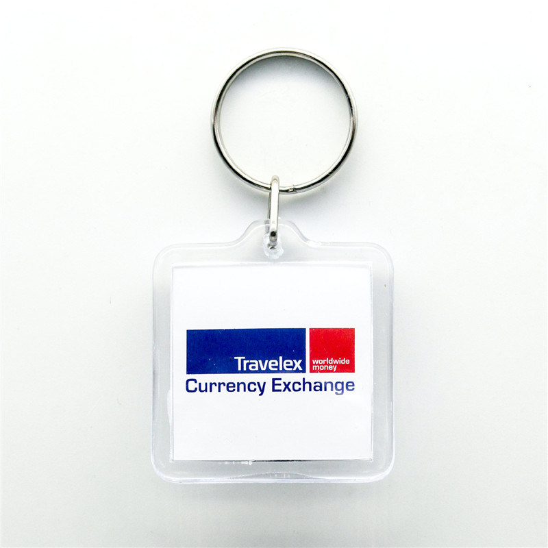 Customized Fashion Fabric/Woven/Embroidery Key Chain/Ring