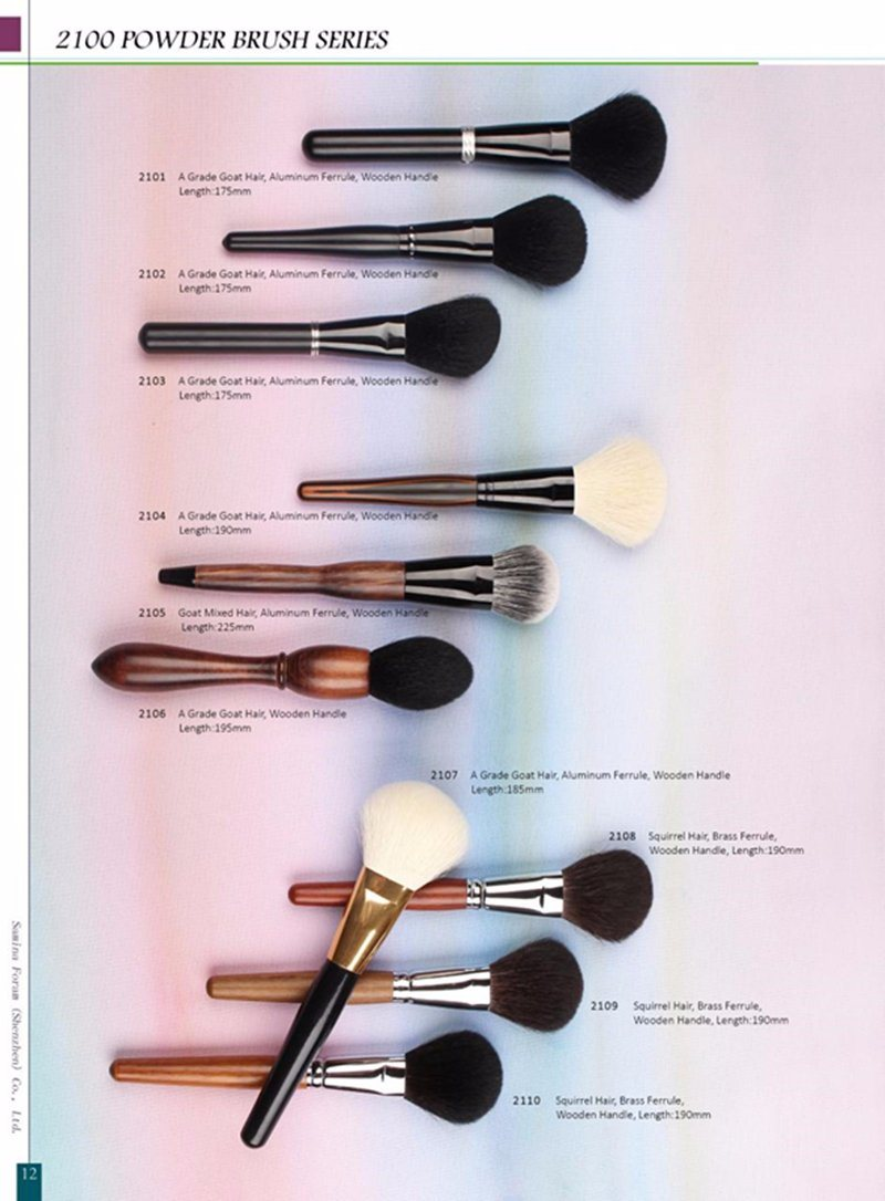 High Quality Animal Hair Face Powder Makeup Cosmetic Brushes