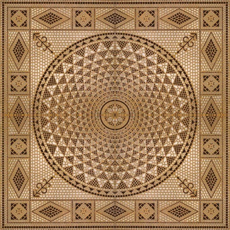 Flower Pattern Carpet Tile Polished Crystal Ceramic Floor Tile 1200X1200mm (BMP13)