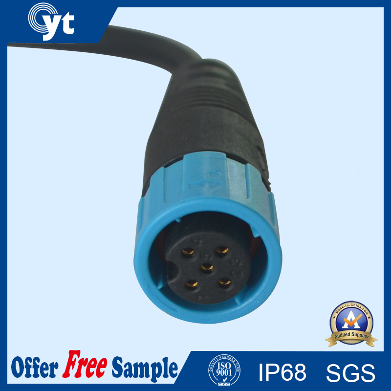 M16 5 Pin Male Female IP68 Waterproof Connector for LED