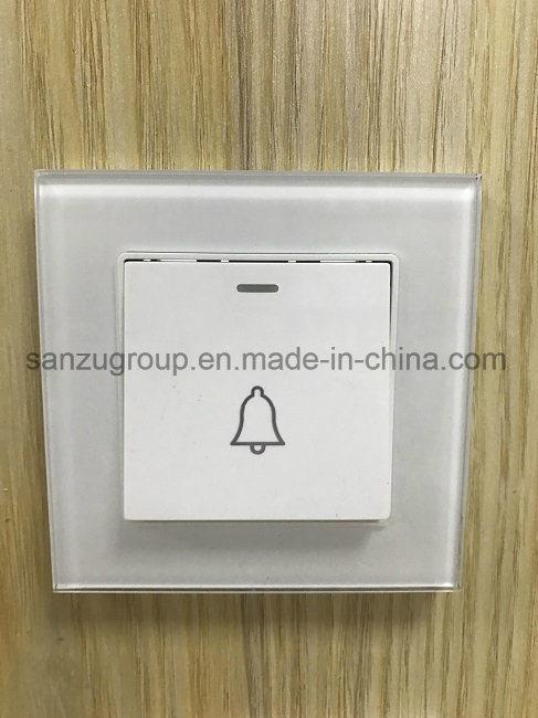 BS Style White Gold USB Socket Glass Wall Socket