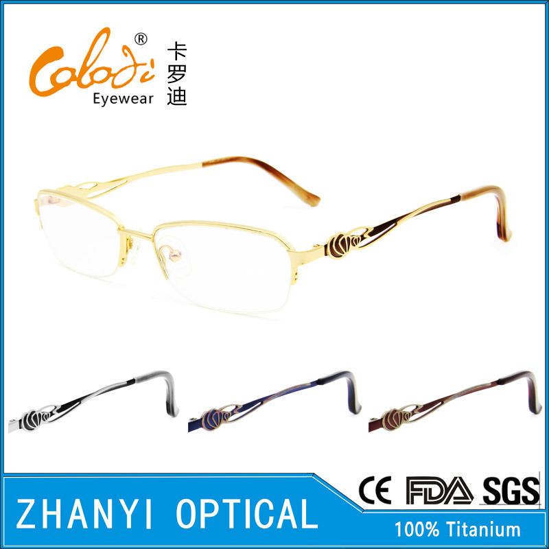 Latest Design Beta Titanium Eyeglass for Woman (8328)