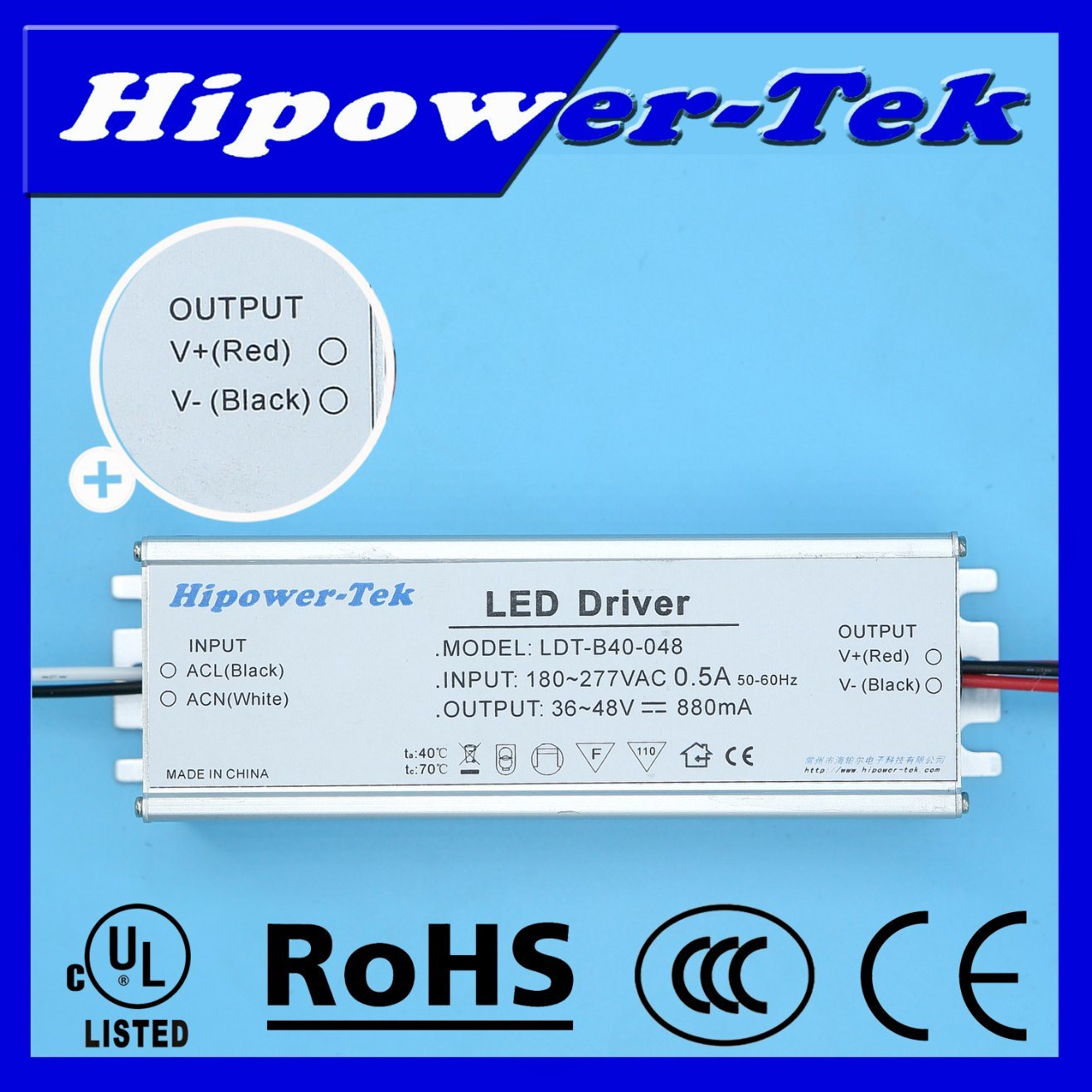 20W-50W Indoor Traic Dimming Constant Current LED Driver