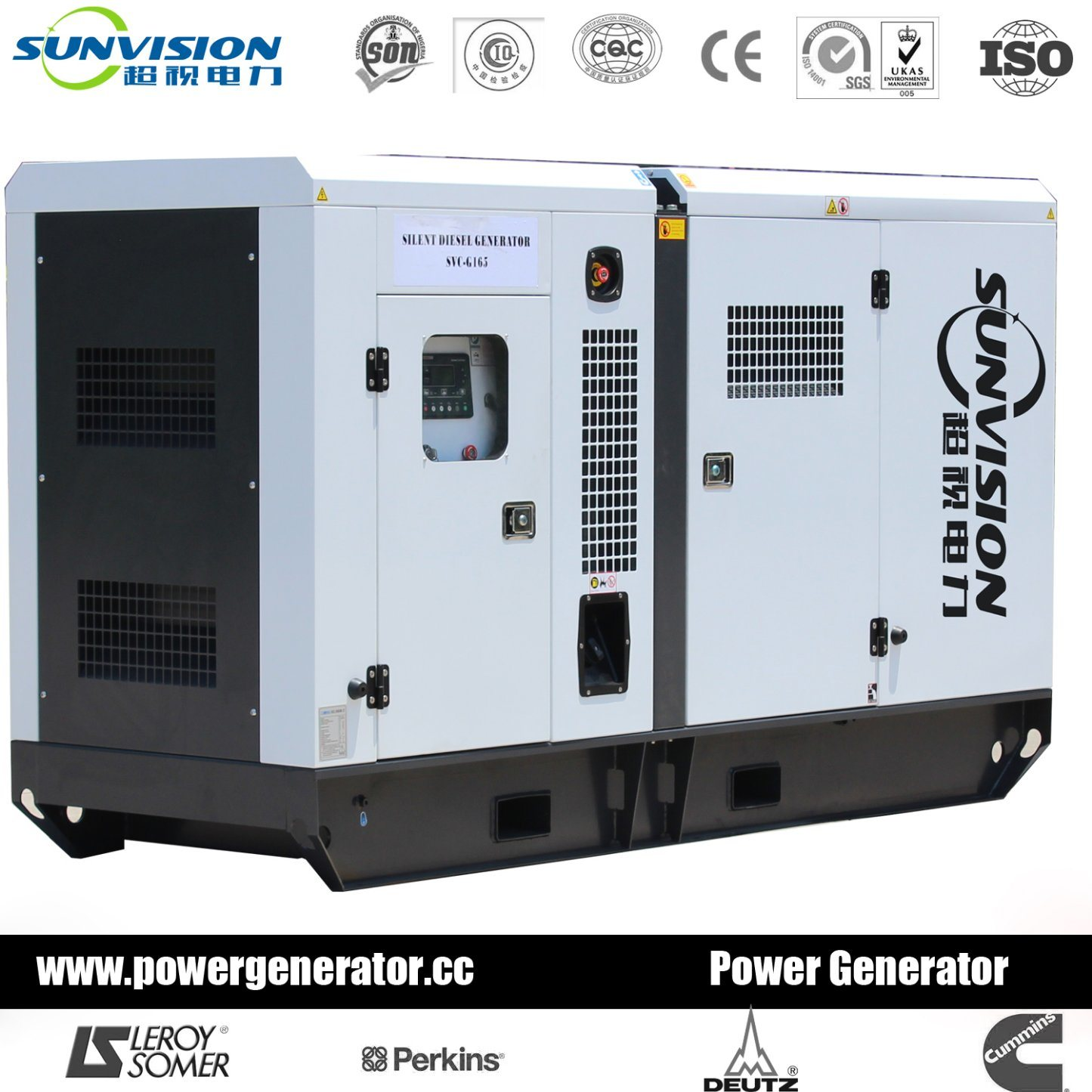 China Fixed Type 120kVA Generator Super Silent with Perkins Engine