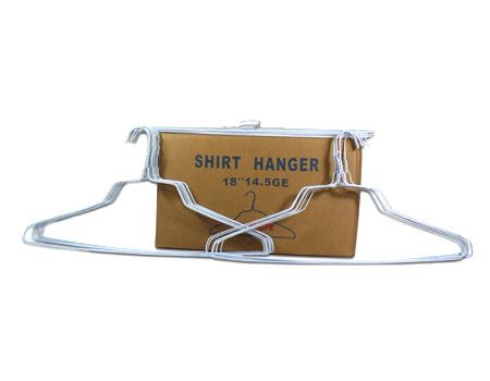 "18""14.5g White Powder Shirt Hanger"