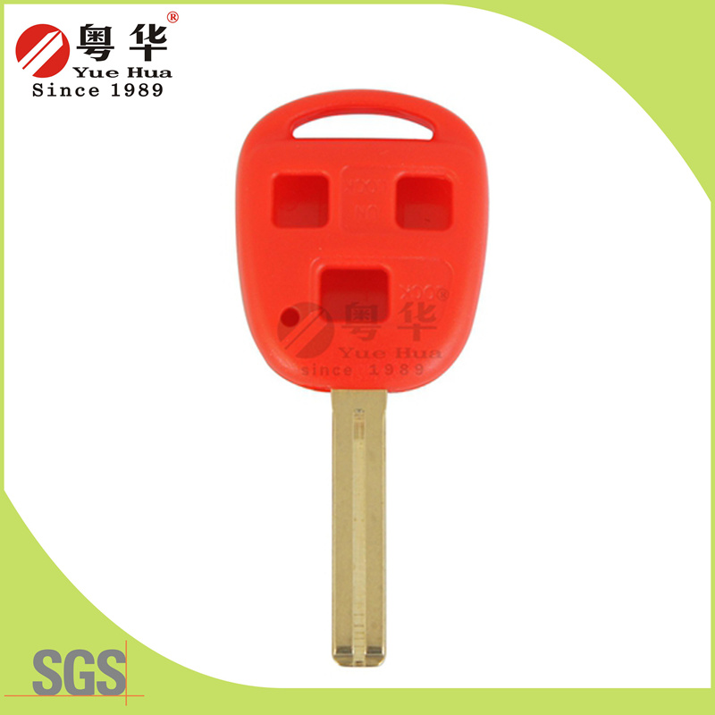 Red Transponder Key Blank for Car Locks