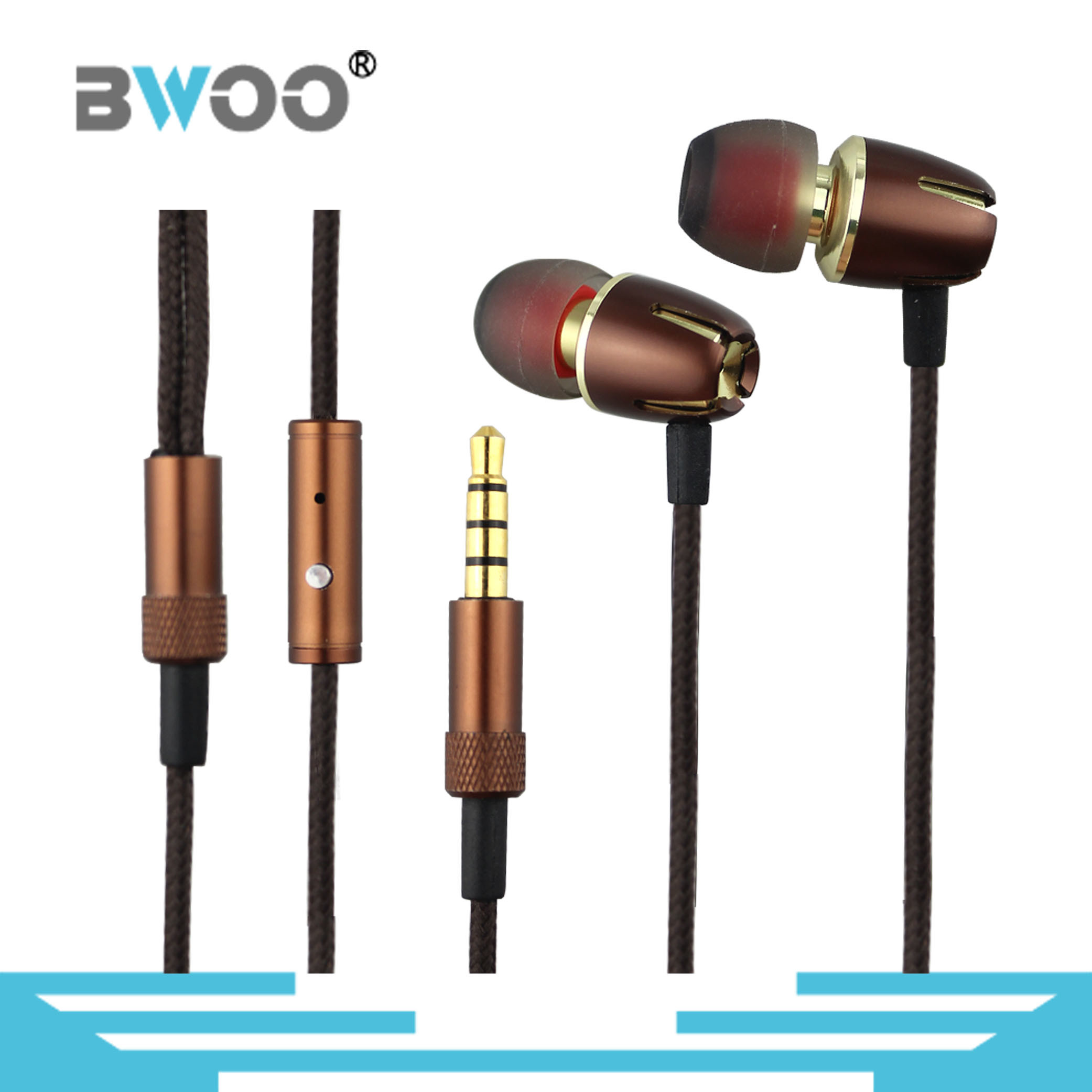 Bwoo-Hot-Selling Metal Stereo Best in-Ear Earphone Hight Level