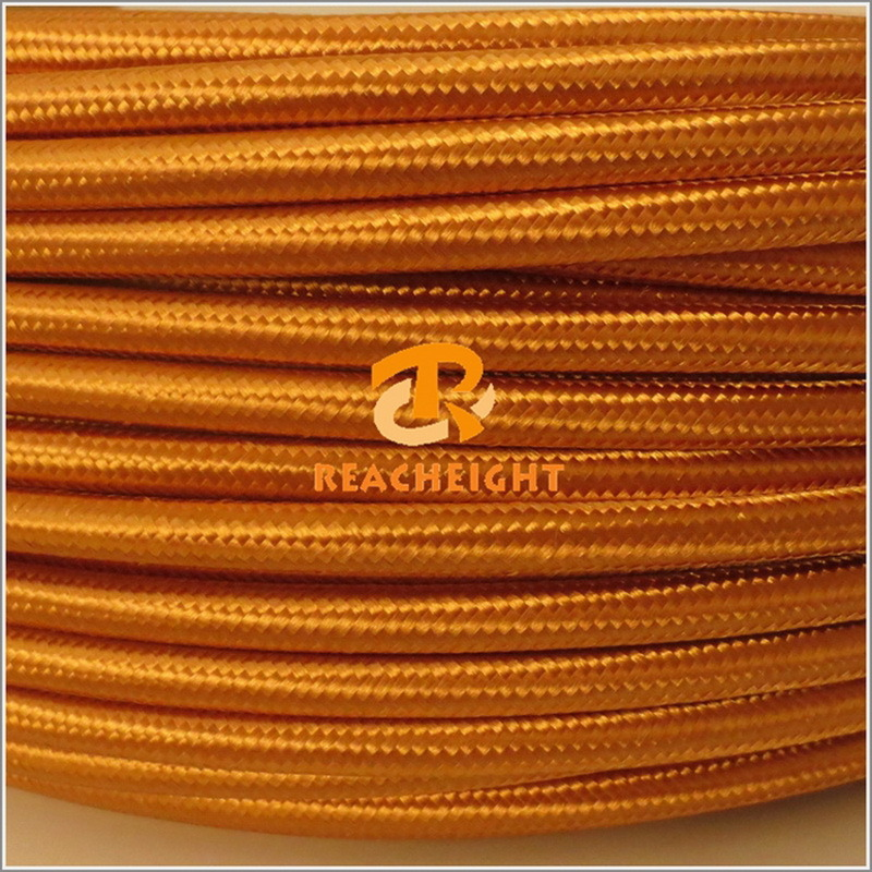 VDE UL Approved Textile Fabric Braided Electrical Cable