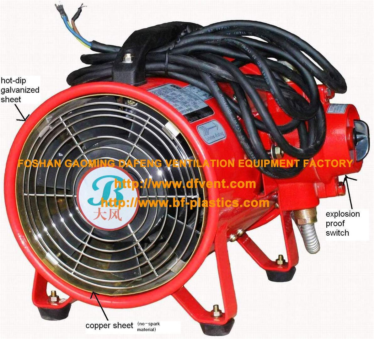 Explosion Proof Portable Ventilation Fan with Anti Static Flexible Duct