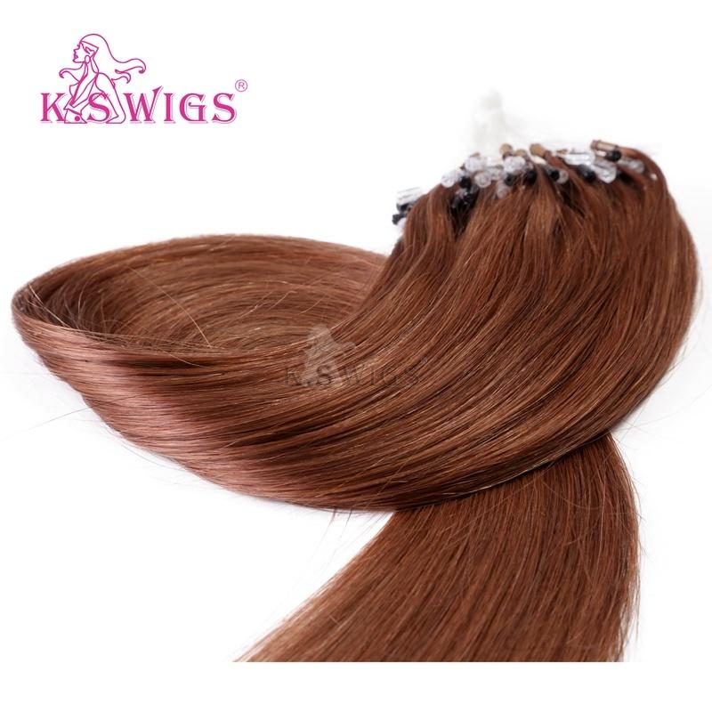 K. S Wigs Hot Sales Mirco Ring Hair Easy Ring Keratin Hair Extension