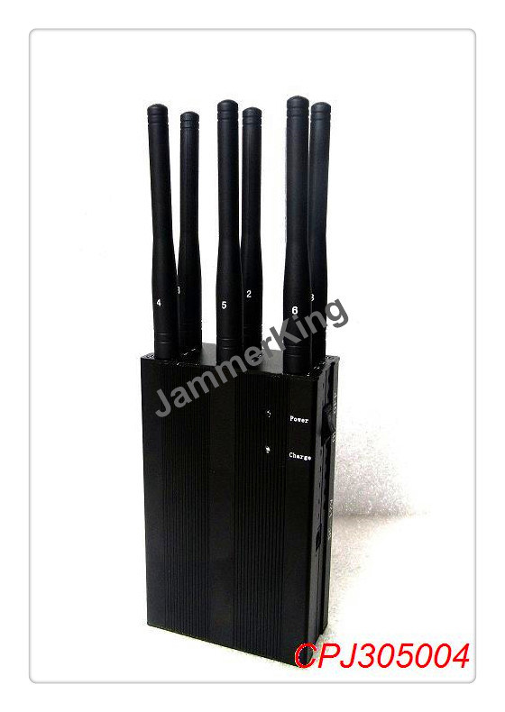 China 6 Antenna 3G 4G Cell Phone & Lojack Jammer; Portable 3G 4G Cell Phone Jammer & WiFi Jammer - China 6 Antennas Jammer, 3G Jammer