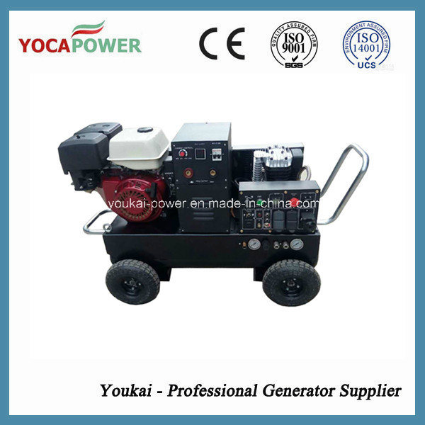 5kVA Electric Power Portable Welder and Air Compressor Gasoline Generator