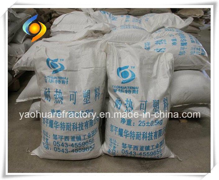 High Alumina/Wear Resistant /Abrasion Refractory Plastics Material for Boiler/Circulating Fluidized Bed Boiler