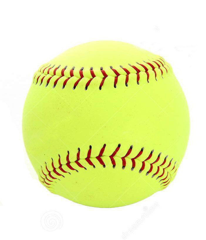 "12"" Yellow Leather Practice Softball"