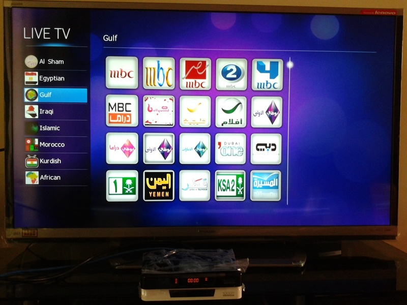 Best Arabic TV Set Top Box (HP608D-B)