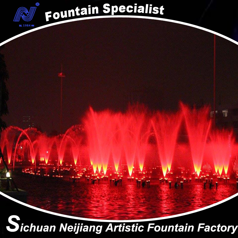 Vietnam Fountain 3D Complex Large Musical Dancing Water Fountain