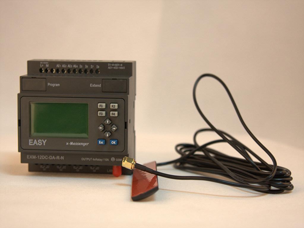 GSM/SMS/GPRS PLC, Ideal Solution for Remote Control& Monitoring &Alarming Applications (EXM-12DC-DA-R-N-HMI)