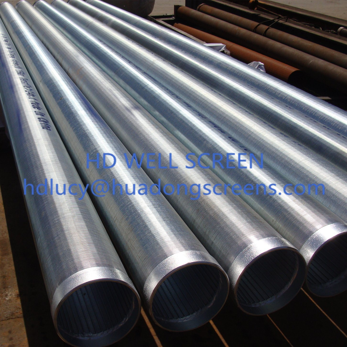 1.0mm Slot Stainless Steel 304/316 Johnson Wire Wrapped Well Screen Pipe with Thread Coupling