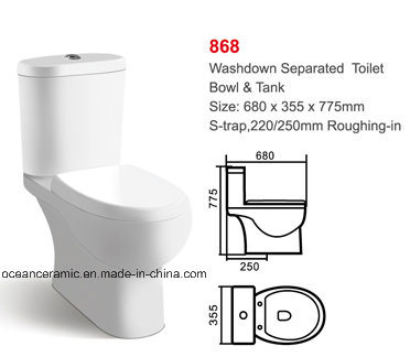 830 Euro Water Closet, Ce Ceramic Toilet