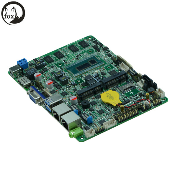 4′′ Industrial Motherboard with 2980u, Onboarded DDR3l 2GB or 4GB 1333MHz Memory, DC 12V~36V Power Supply