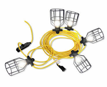 50ft Construction Work Cage Temprorary String Light
