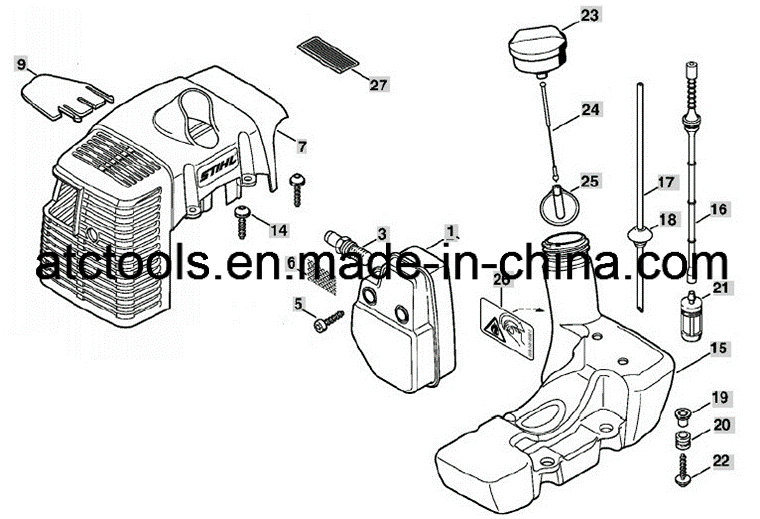 stihl fs 130 parts diagram