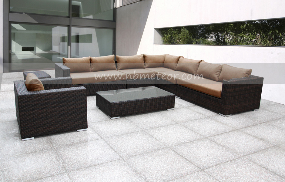 Outdoor Rattan/Wicker Furniture 8PCS Sofa Set (MTC-012)