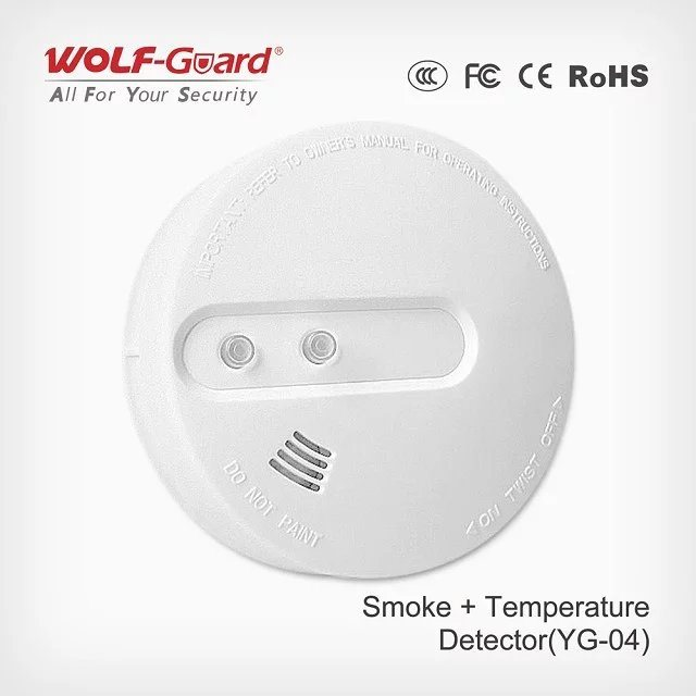 Personal Alarms Portable Multi Gas Detector Smoke and Heat Sensor Yg-04