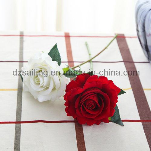 Artificial Single Wedding Rose Flower for Decoration (SW03336)