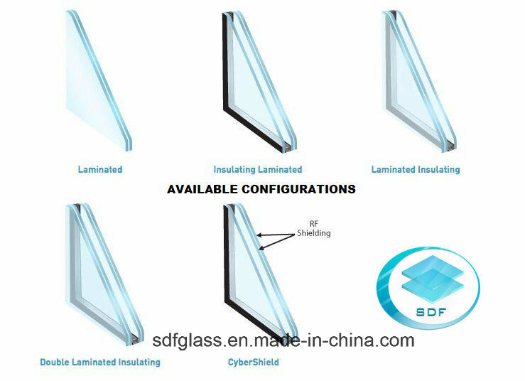 PVB Laminated Glass with CE, ISO