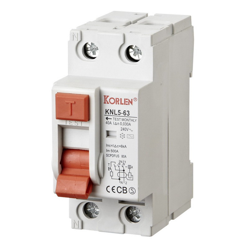 High Quality Residual Current Circuit Breaker ID RCCB (KNL5-63)