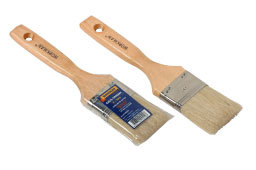 100% Pure Bristle Paint Brush with Wooden Handle