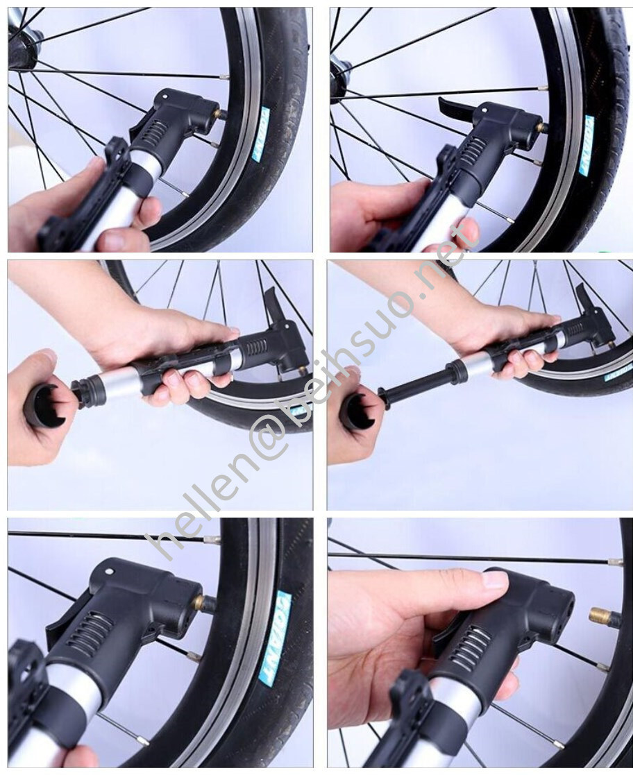 High Pressure Bike/Bicycle Hand Pump for Tire Valve