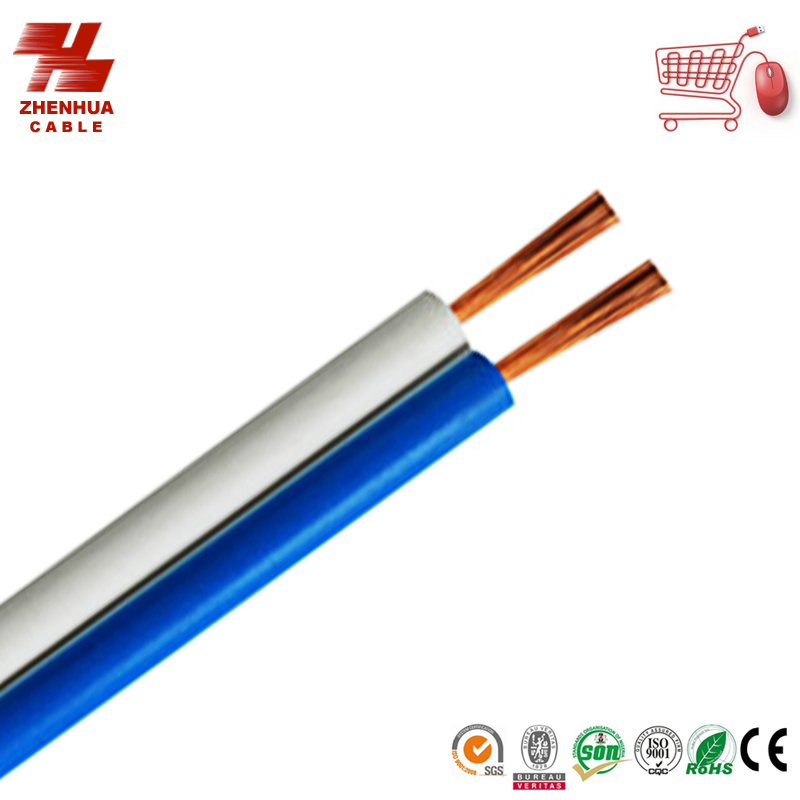 2core White Blue Flat Twin Cable for Speaker 2X1.5mm