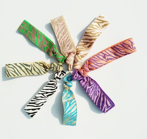 Children′s Printed Knotted Hair Ties