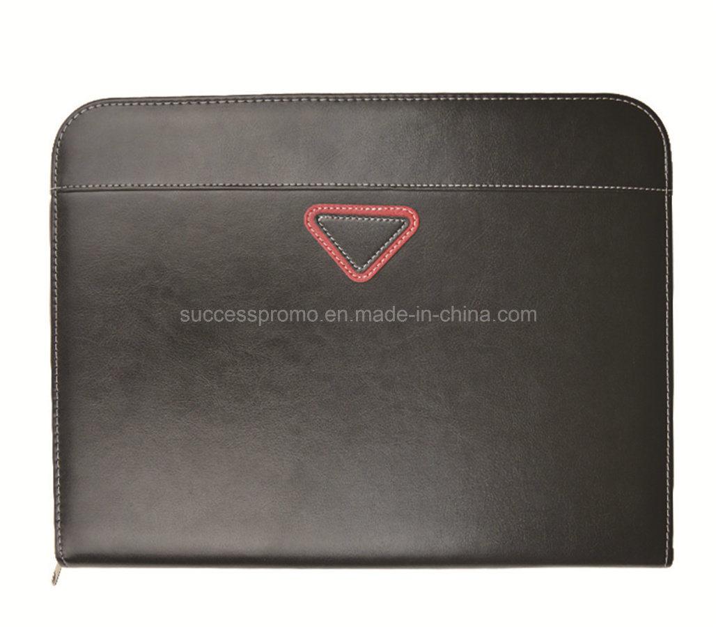 Customized Popular High Quality Zipper Portfolio File Folder