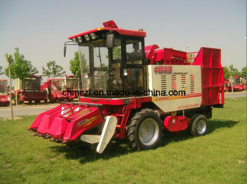 Three Rows Competitive Price of Mini Corn Combine Harvester