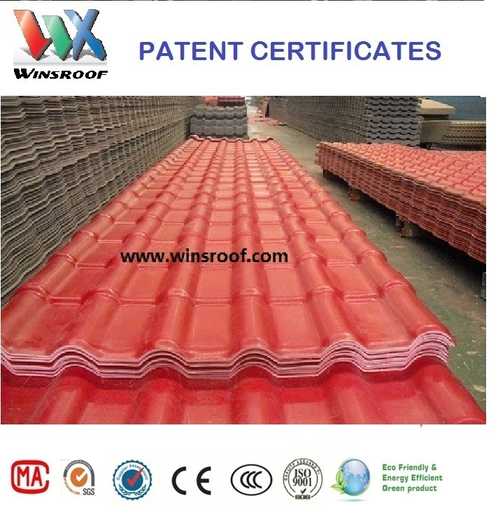 Wins PMMA/Asa Synthetic Resin Roof Tile for Living Houses