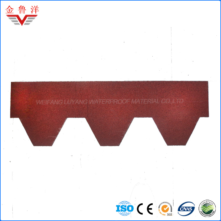 Mosaic Type Colorful Asphalt Shingle / Single Layer Asphalt Shingle