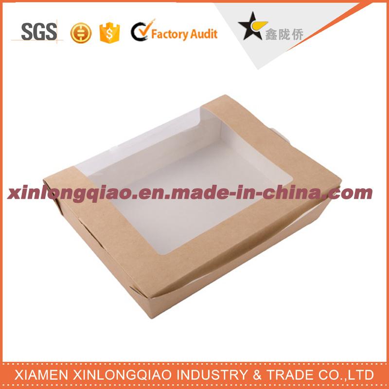 Custom Size Brown Kraft Paper Box with PVC Window