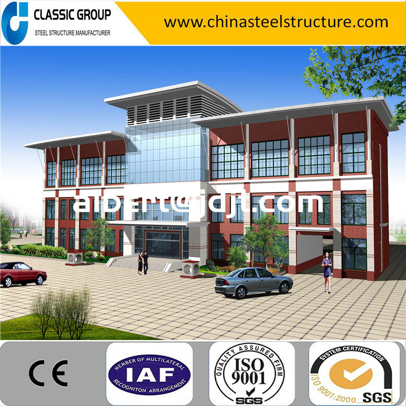 Good Looking China Easy and Fast Install Office Building with Glass Curtain Wall