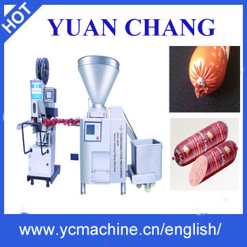 Sausage Production Line/Vacuum Sausage Filler+Mechanical Clipper/Meat Processing Machine, Yuanchang