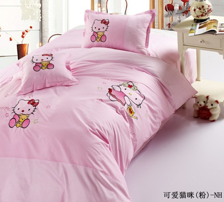 China hello kitty bedding sets hara0010w china hello - Deco chambre hello kitty ...