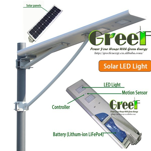 5-60W Integrated Solar Power LED Street Light with Ce&RoHS