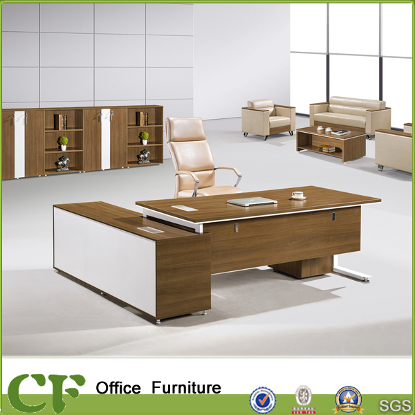 China Luxury Large Modern Office Chairman Table with Side Cabinet