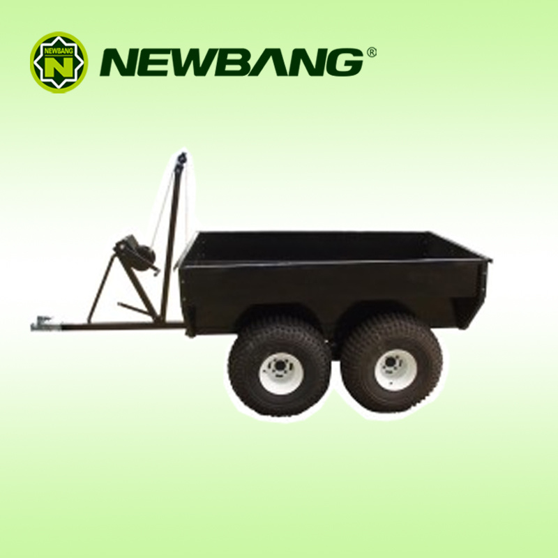 ATV Trailer with Manual Tip Winch 4 Wheels