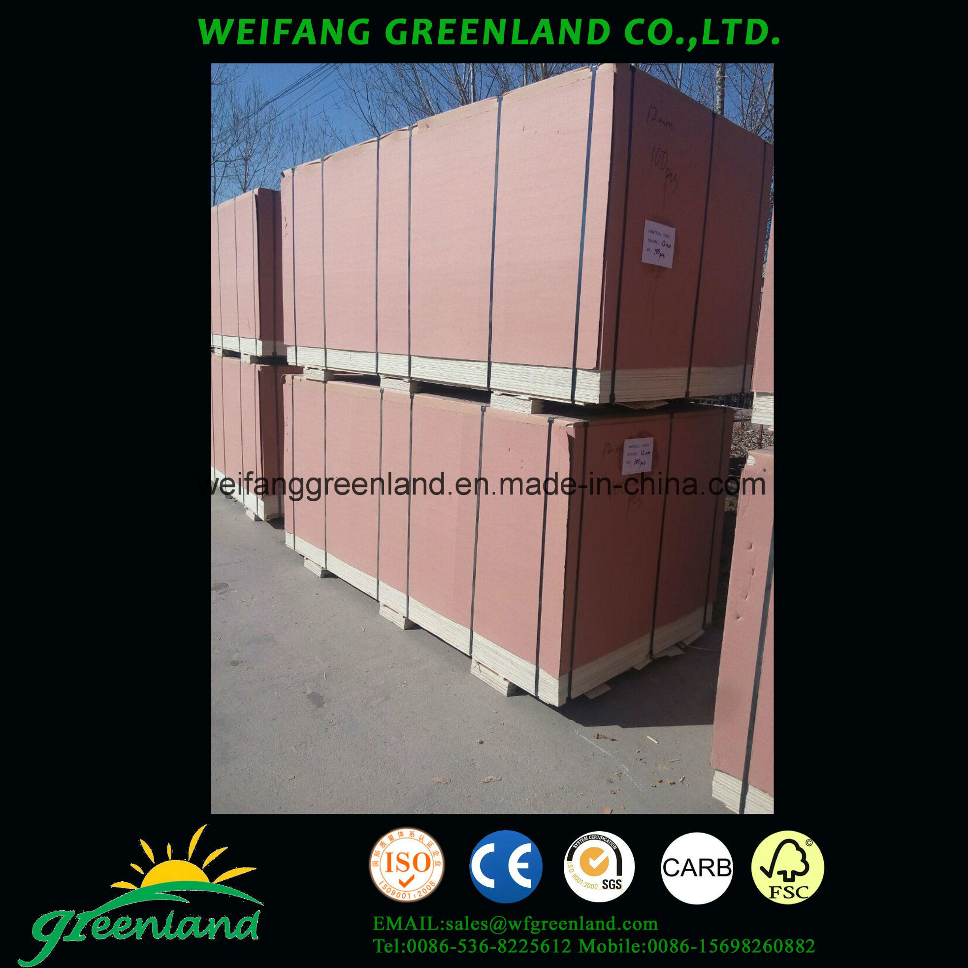 High Quality, Poplar Core Pine Film Plywood