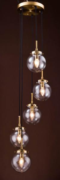 Metal Chandelier with Glass Shade (WHG-651)